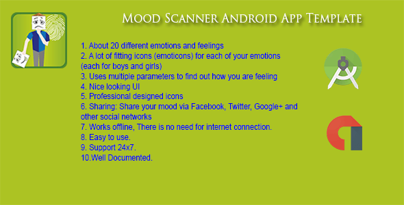 Mood Scanner Android App - Admob - CodeCanyon Item for Sale
