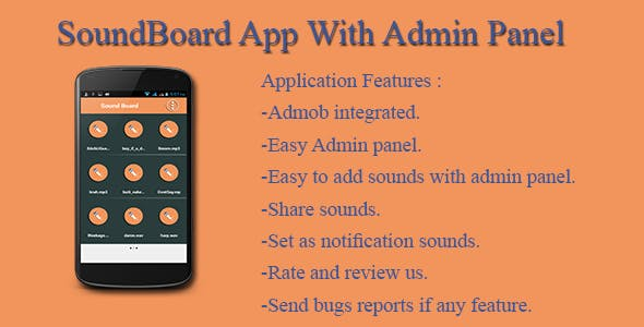 SoundBoard App With Admin Panel