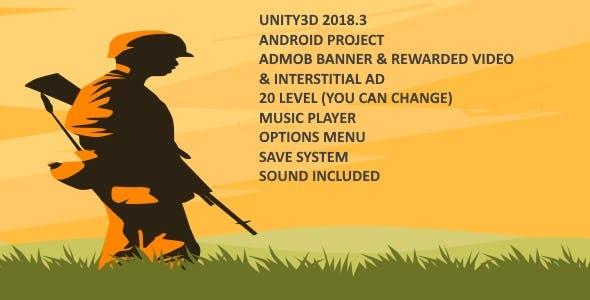 2D War Game UNITY3D 2018.3