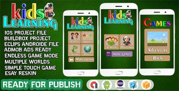 LEARNING KIDS - FULL EDUCATIONAL APP FOR KIDS (IOS XCODE FILE)