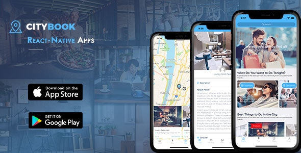 CityBook - Listing Directory React Native mobile app - CodeCanyon Item for Sale