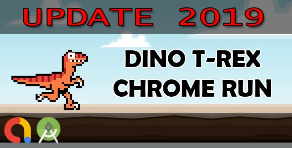 DINO T-REX CHROME RUN - Android Studio + Admob + GDPR + API 27 + Eclipse - CodeCanyon Item for Sale