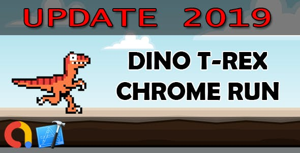 DINO T-REX CHROME RUN - iOS Xcode 10 + Admob