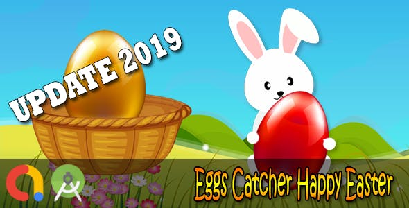 Eggs Catcher Happy Easter - Android Studio + Admob + GDPR + API 27 + Eclipse