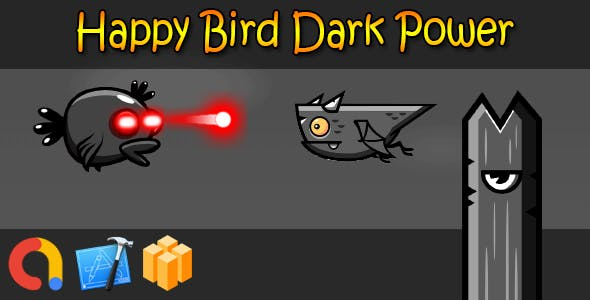 Happy Bird Dark Power - iOS Xcode 10 + Admob + Buildbox template