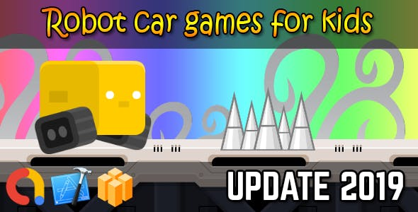 Robot car games for kids - iOS Xcode 10 + Admob + Buildbox template