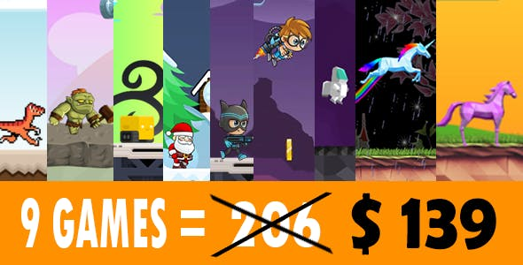 Mega Bundle 9 Games Android Studio + Admob + GDPR + Eclipse - Run Game