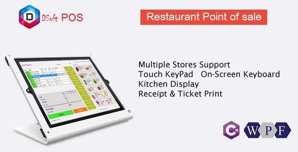 Rest POS - Restaurant Point of Sale WPF Application by dynamicsoft