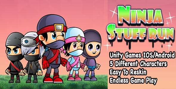 Ninja Stuff Run + Unity Games + IOS and Android