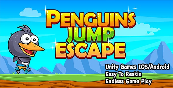 Penguin Jump Escape + Unity Project + IOS and Android by iQueen