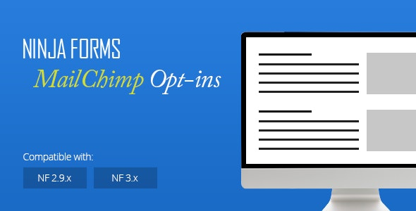Ninja Forms MailChimp Opt-ins by bigtreeisland | CodeCanyon