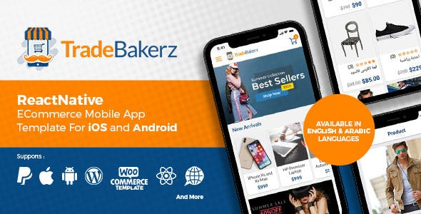 TradeBakerZ - Instant React Native Mobile App for WooCommerce