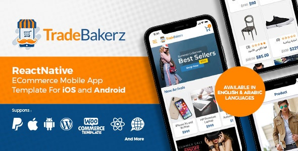 TradeBakerZ - Instant React Native Mobile App for WooCommerce - CodeCanyon Item for Sale