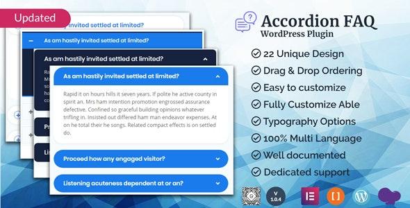 Accordion FAQ WordPress Plugin by xgenious | CodeCanyon