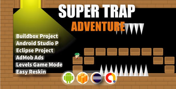Super Trap Adventure ( Android Project + Eclipse + Admob + Bbdoc )