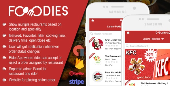 Restaurant Food Delivery & Ordering System With Delivery Boy - iOS - CodeCanyon Item for Sale