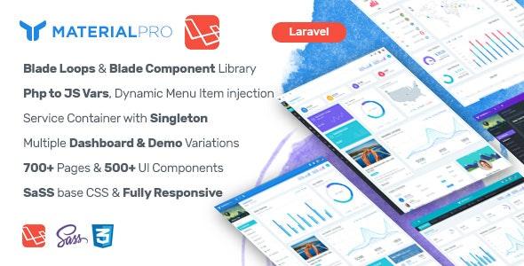 Material Pro - Laravel Admin Template by MARUTI | CodeCanyon