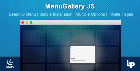 MenuGallery JS - CodeCanyon Item for Sale