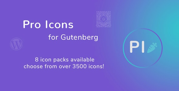 Pro Icons for Gutenberg WordPress Editor - CodeCanyon Item for Sale
