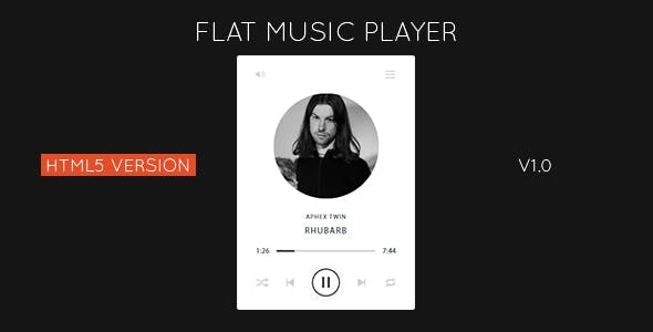 Flat HTML5 Music Player