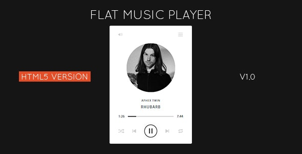 Flat HTML5 Music Player - CodeCanyon Item for Sale