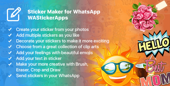 whatsapp stickers app Free Download | Envato Nulled Script