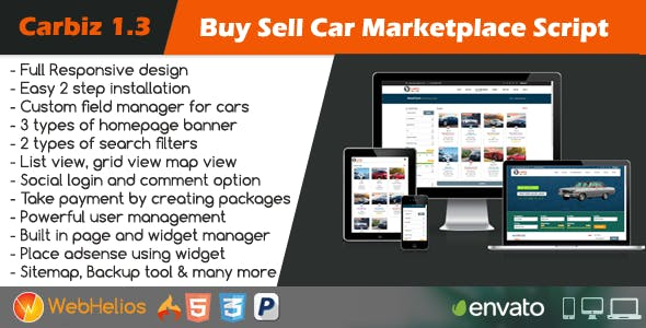Carbiz - Buy Sell Car Marketplace Script