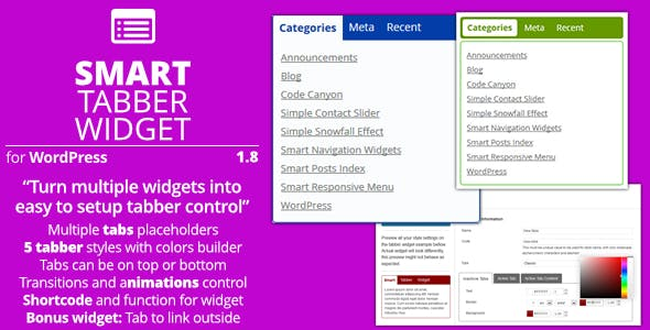 Smart Tabber Widget - Plugin for WordPress