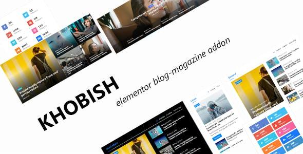 Khobish - Blogging Package for Elementor Page Builder