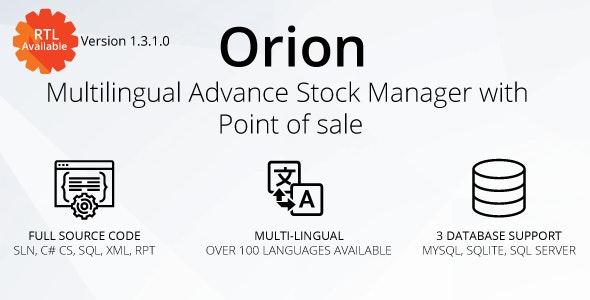 Orion - Multilingual advance stock manager with Point of sale system - CodeCanyon Item for Sale