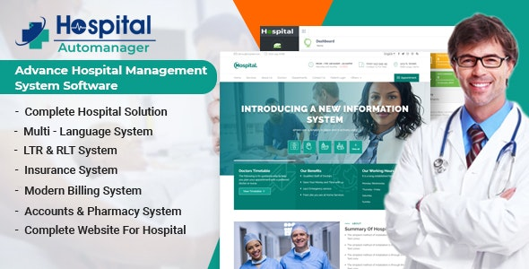 Hospital AutoManager | Advance Hospital Management System Software - CodeCanyon Item for Sale