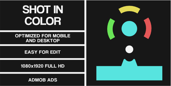 Shot In Color (HTML5 Game + Construct 2/3 CAPX) - CodeCanyon Item for Sale