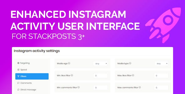 Enhanced Instagram Activity UI For Stackposts 4+