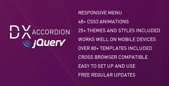 DX Accordion Menu - CodeCanyon Item for Sale