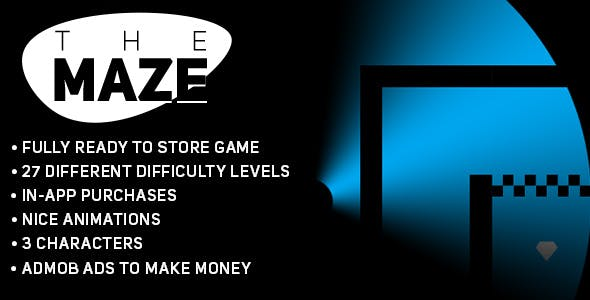 The Maze (Android) Fun Puzzle Game Template + easy to reskine + AdMob