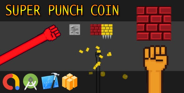 Super one punch coins - Buildbox + iOS Xcode 10 + Android Studio + Admob + GDPR + API 27 + Eclipse