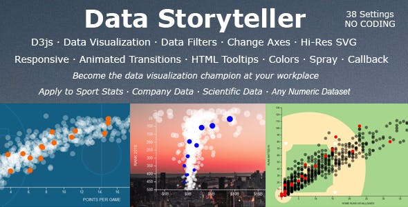 Data Storyteller: Responsive SVG Bubble Chart Visualization (D3js & jQuery)