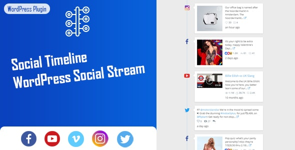 Social Timeline - WordPress Social Stream - CodeCanyon Item for Sale