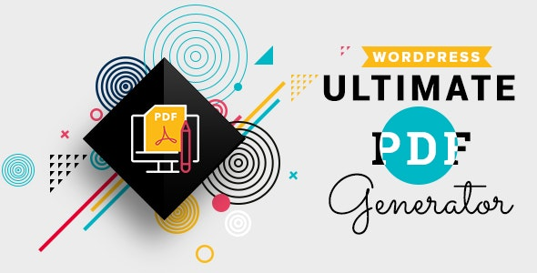 WP Ultimate PDF Generator - CodeCanyon Item for Sale