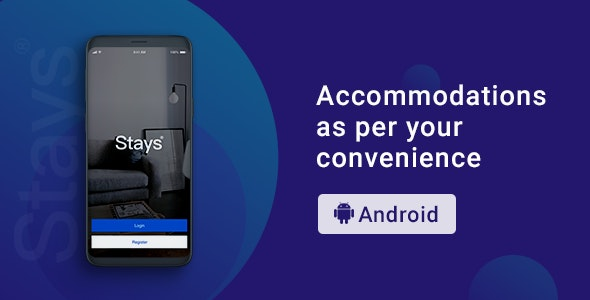 Stays | Room Booking App | Android Template - CodeCanyon Item for Sale