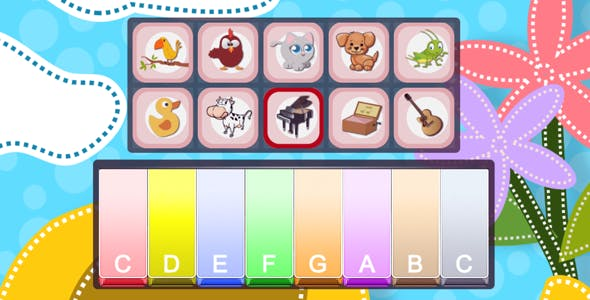 Piano For Kids Animal Sounds - HTML5