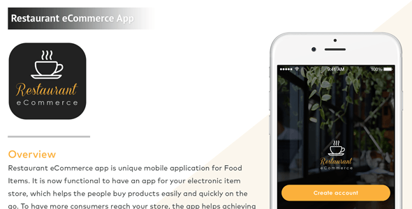 iPhone Restaurant eCommerce Mobile App