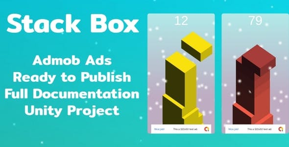 Stack Box with Admob banner and Interstitial