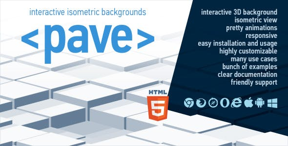 Pave - Interactive Isometric Backgrounds
