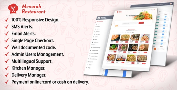 Menorah Restaurant - Restaurant Food Ordering System by DigiSamaritan