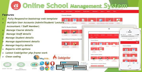 eSMS - Online School Management System - CodeCanyon Item for Sale