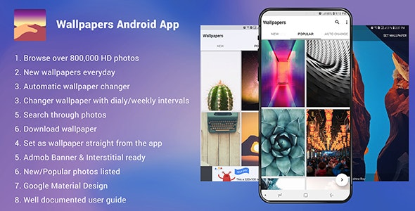 Wallpapers Android App Admob Ready By Zarsaeed Codecanyon