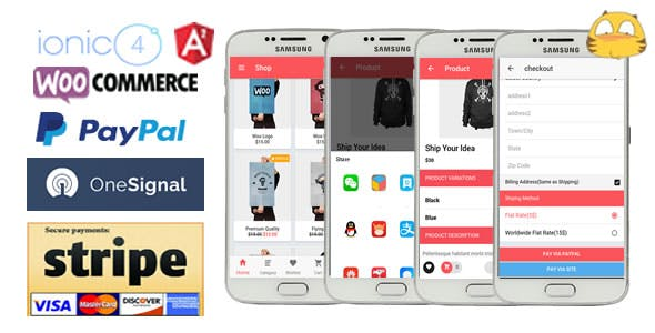 IonicWooStore-ionic 4 App for WooCommerce