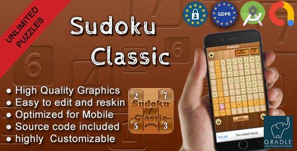 Sudoku Classic (Admob + GDPR + Android Studio)