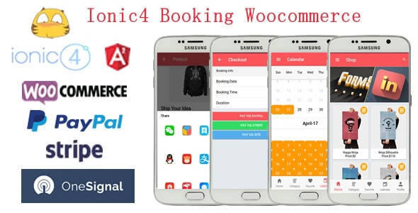 Ionic4 Integration with Woocommerce Booking App - CodeCanyon Item for Sale